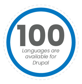 Drupal is available in 100 languages