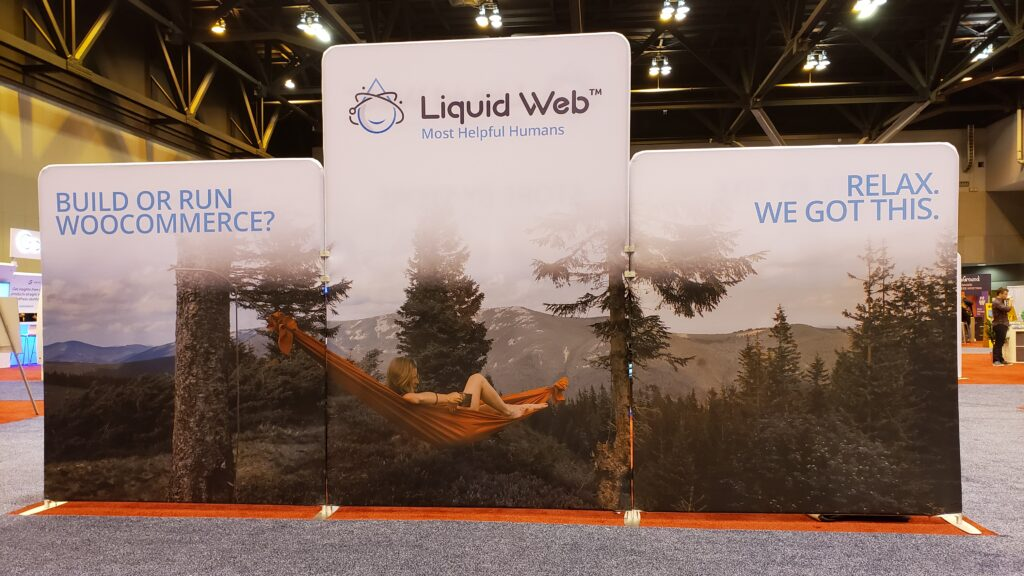 The Liquid Web Booth at WordCamp US